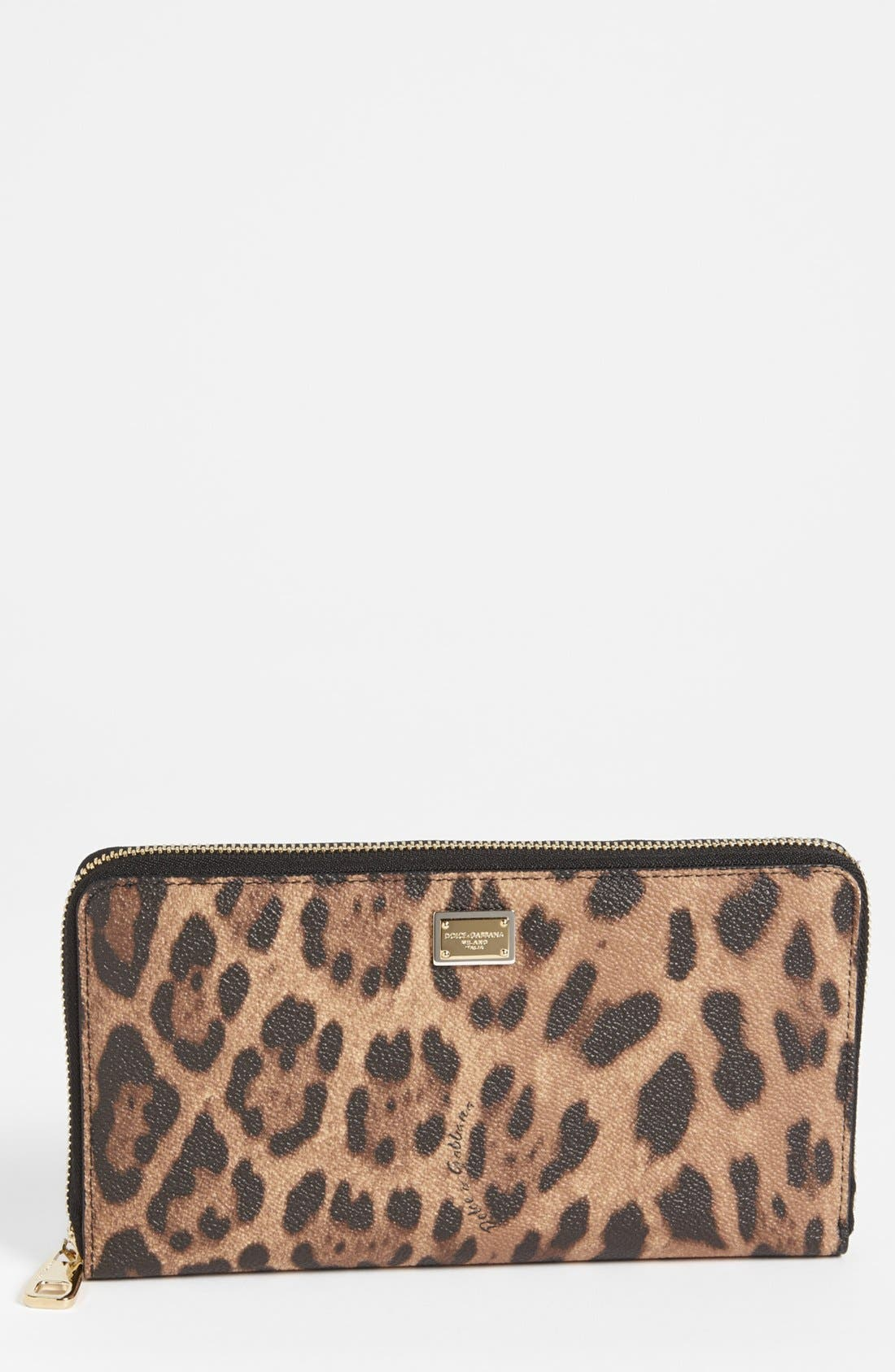Alternate Image 1 Selected - Dolce&Gabbana 'Extra Large' Checkbook Wallet