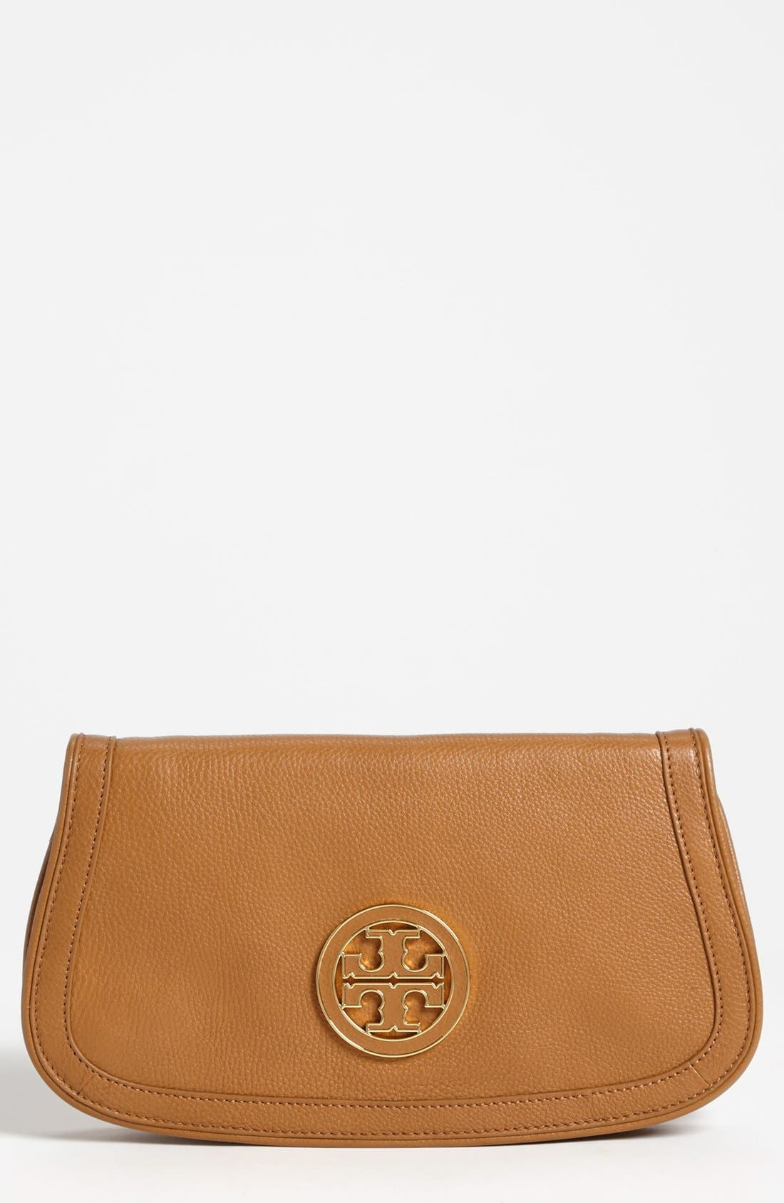 Alternate Image 1 Selected - Tory Burch 'Amanda' Logo Flap Clutch