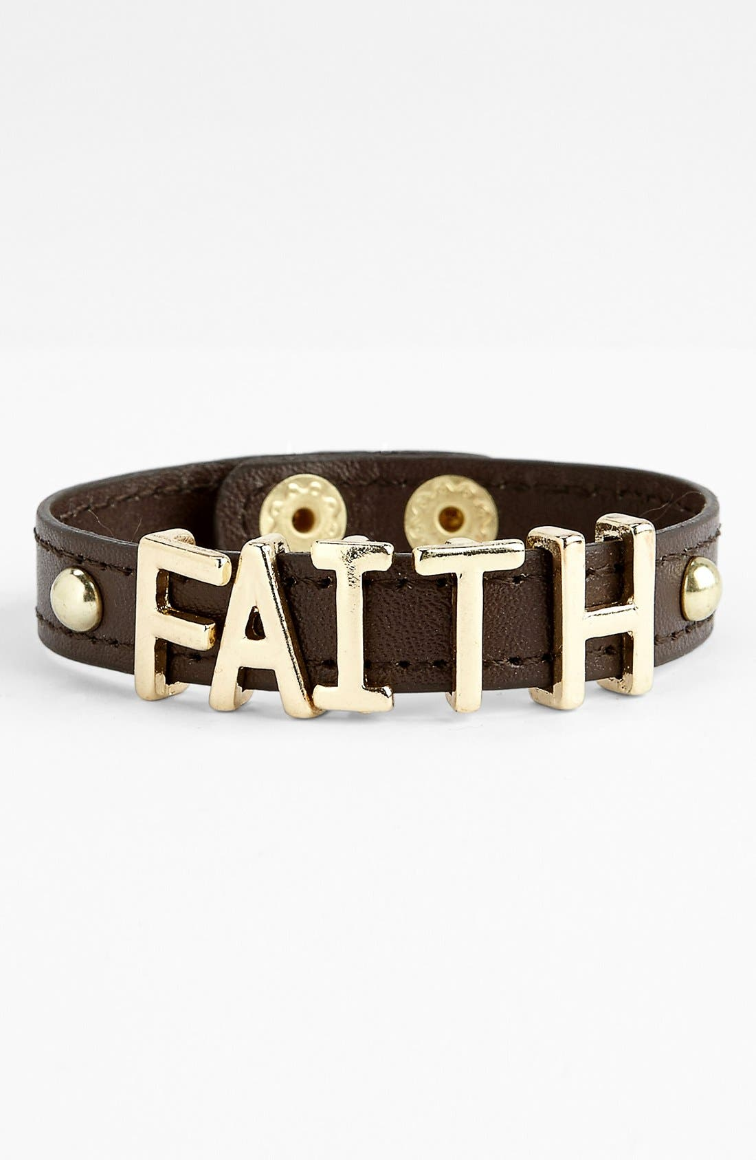 Alternate Image 1 Selected - Kool Konnections 'Faith' Cuff Bracelet (Juniors)