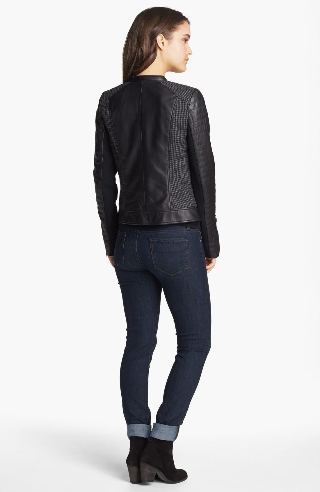 Alternate Image 1 Selected - Trouvé Jacket, Halogen® Shirt, Free People Tee & MOTHER Jeans