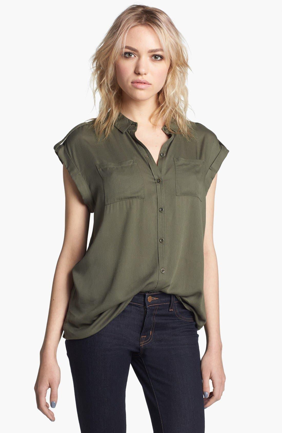 Main Image - Trouvé Roll Cuff Shirt