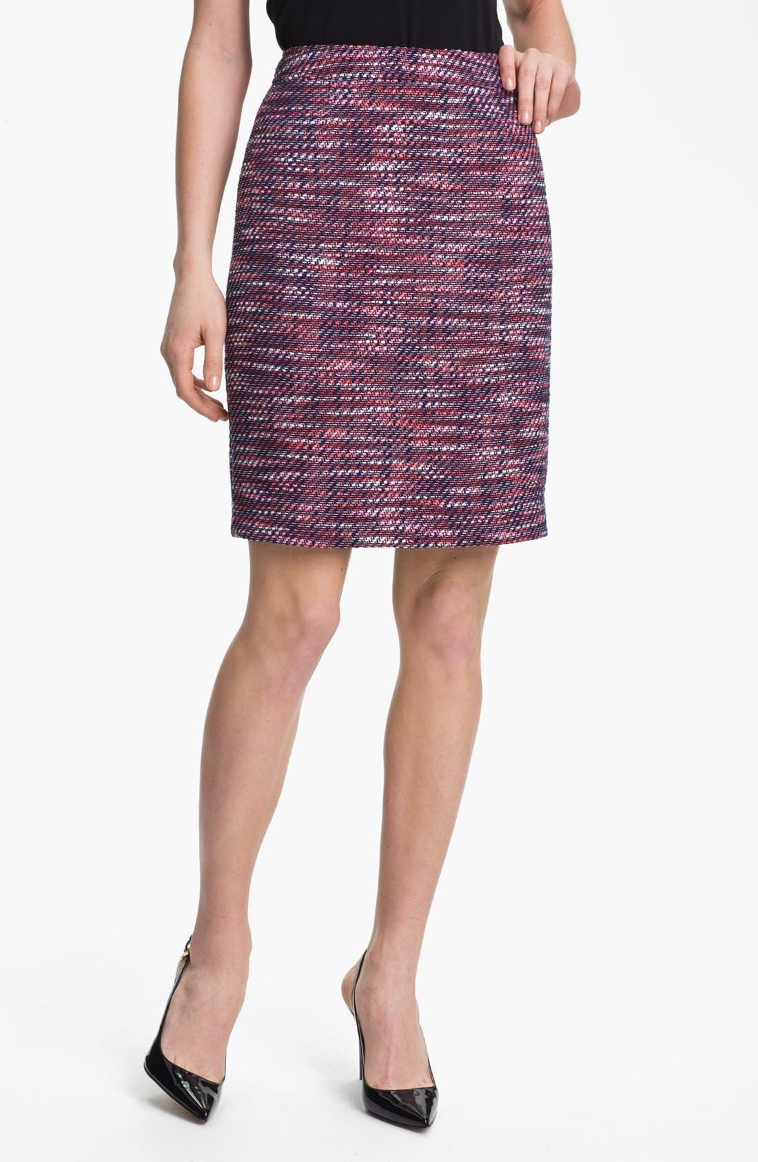 Main Image - Halogen® Tweed Pencil Skirt (Petite)