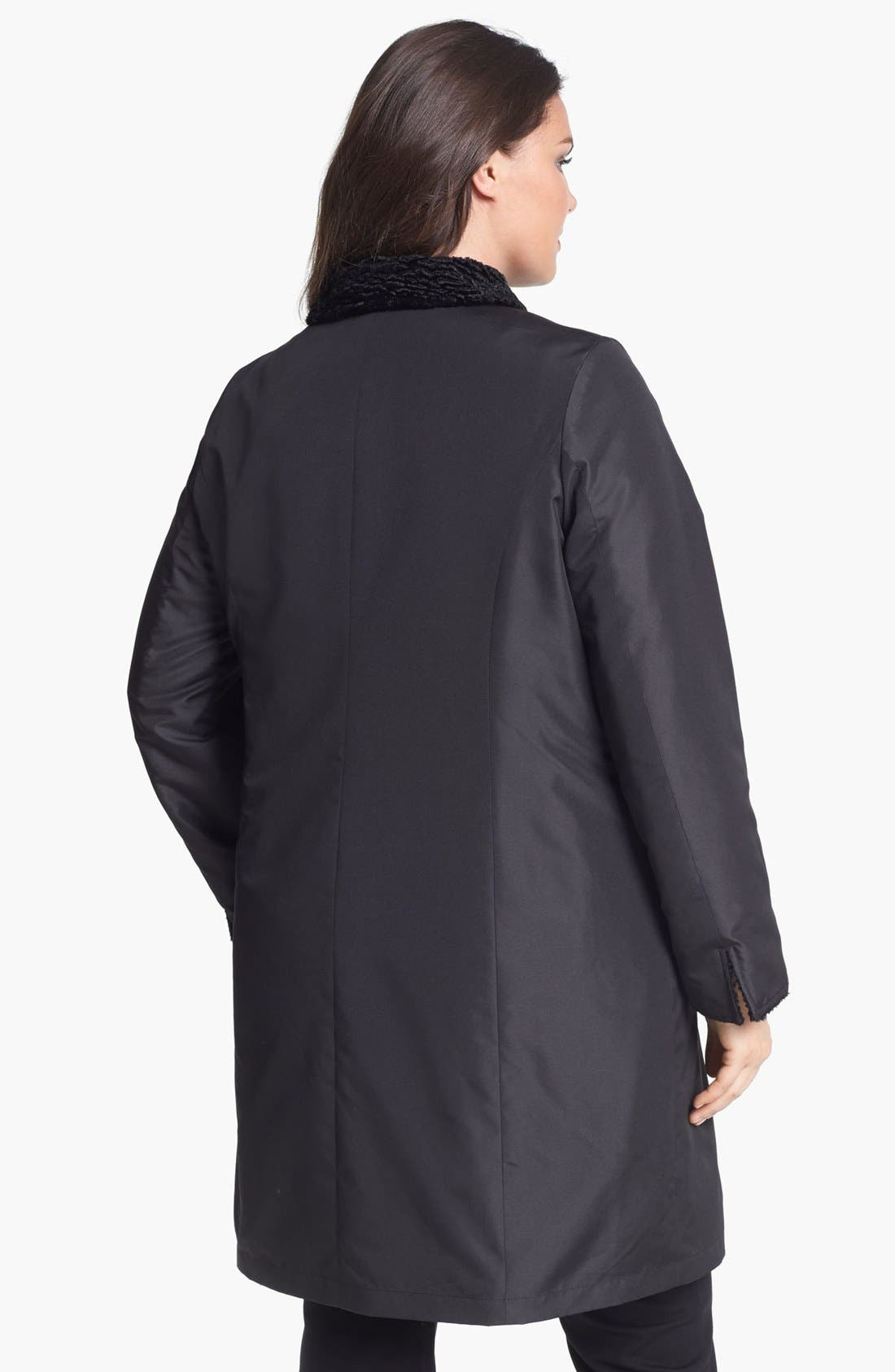 Alternate Image 3  - Ellen Tracy Reversible Faux Persian Fur Coat (Plus Size) (Nordstrom Exclusive)