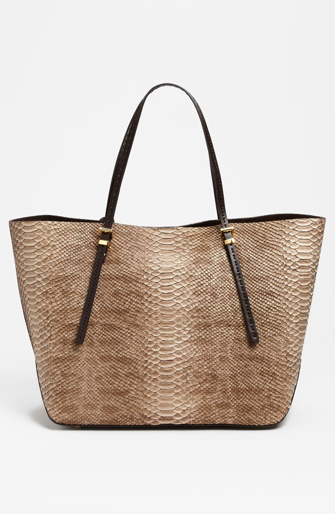 Alternate Image 4  - Michael Kors 'Gia' Python Embossed Leather Tote, Large
