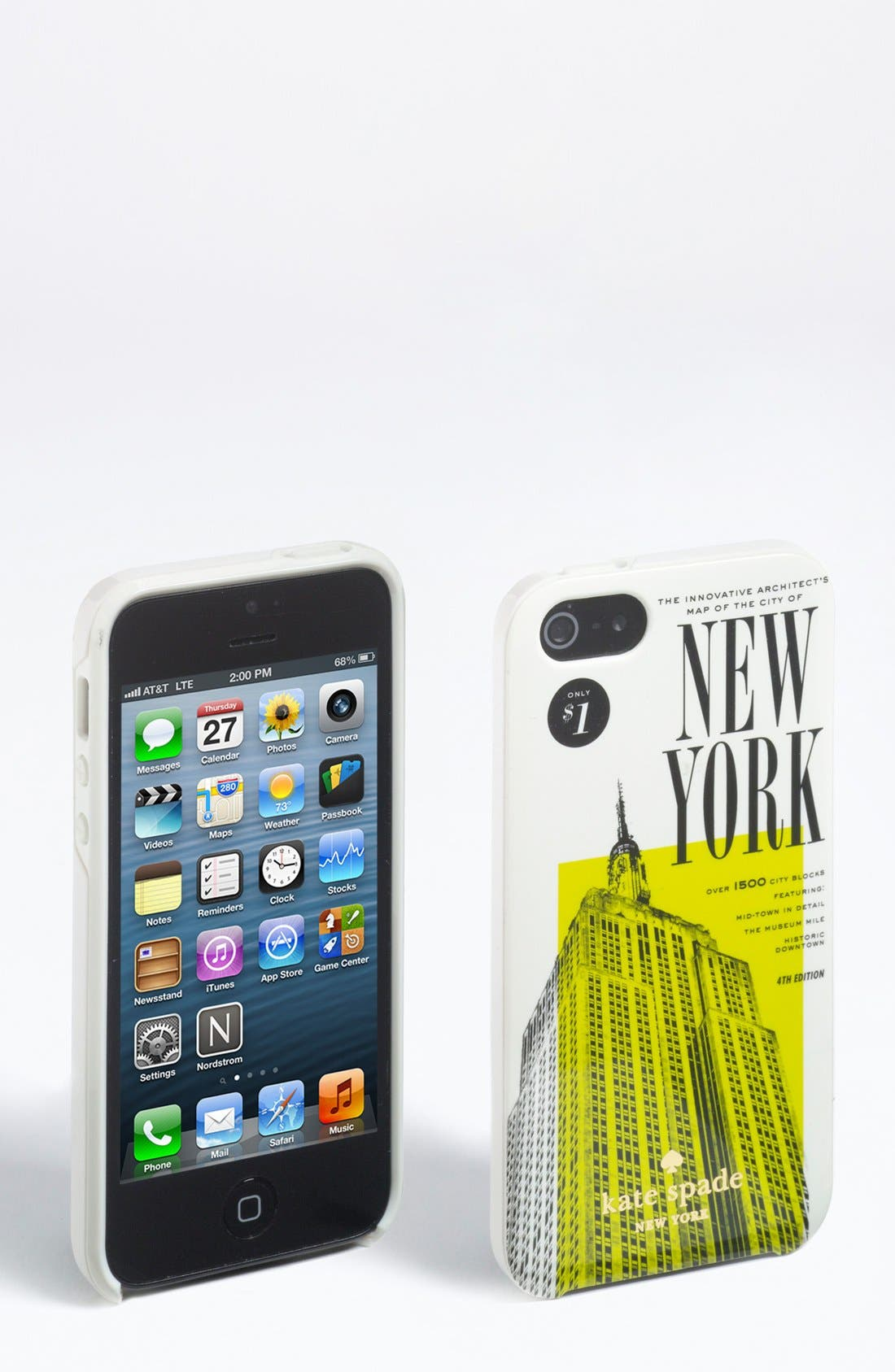 Alternate Image 1 Selected - kate spade new york 'new york map' iPhone 5 & 5S case