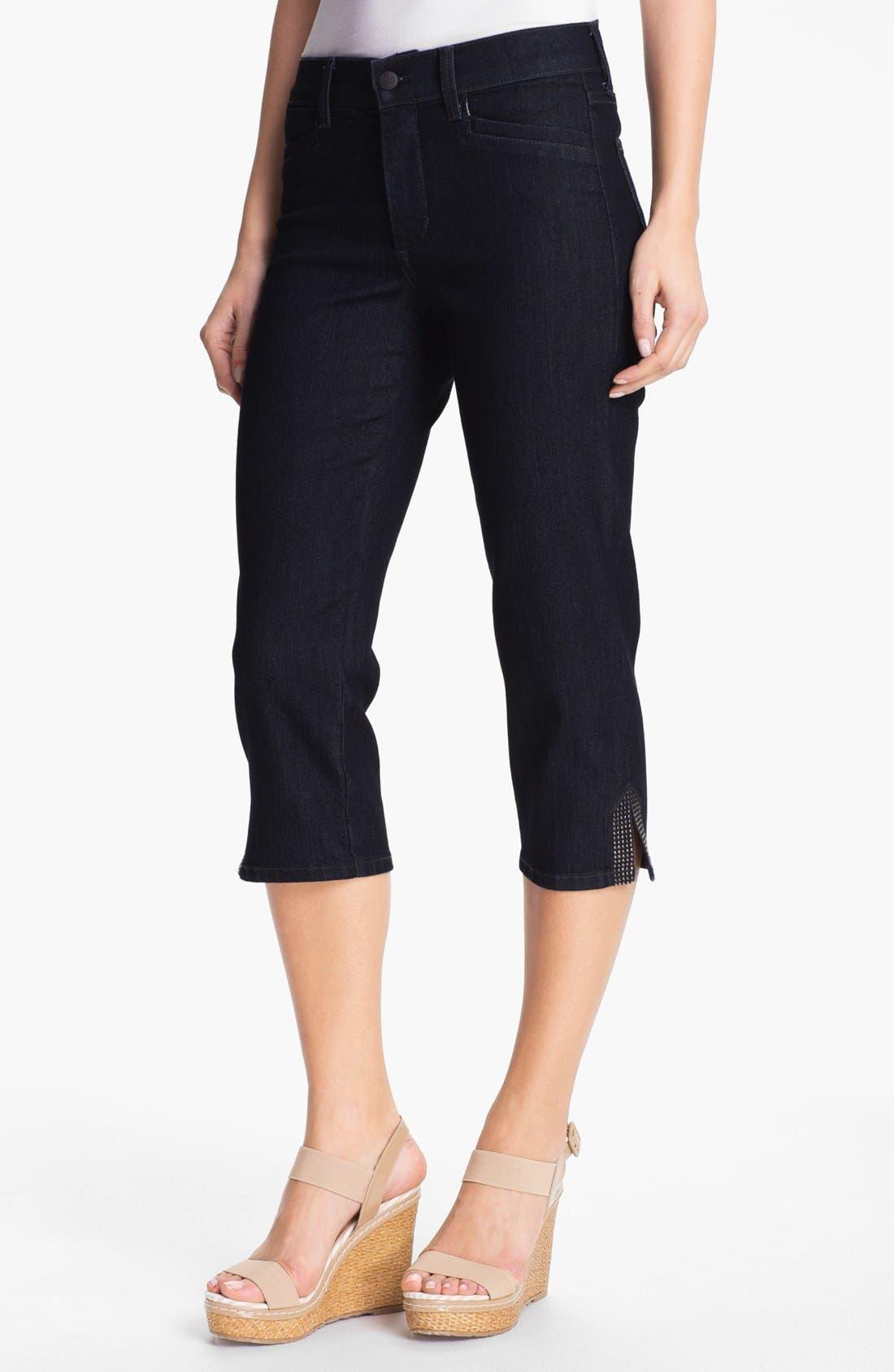 Main Image - NYDJ 'Suzy' Embellished Crop Jeans (Plus Size)