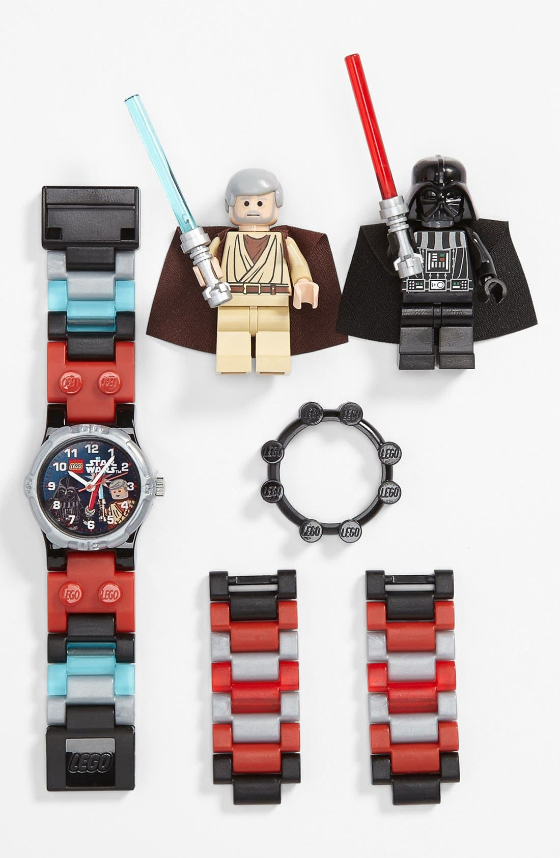 Alternate Image 1 Selected - LEGO® 'Darth Vader™ Vs. Obi Wan™' Watch & Toy (Boys)