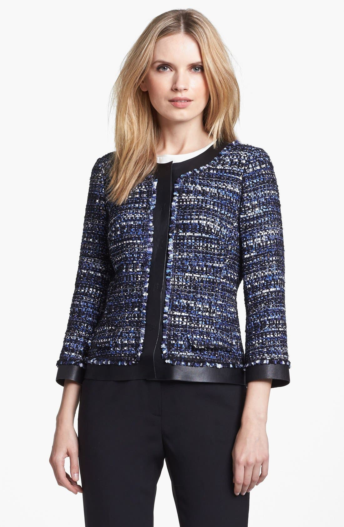 Main Image - Lafayette 148 New York 'Marielle' Tweed Jacket