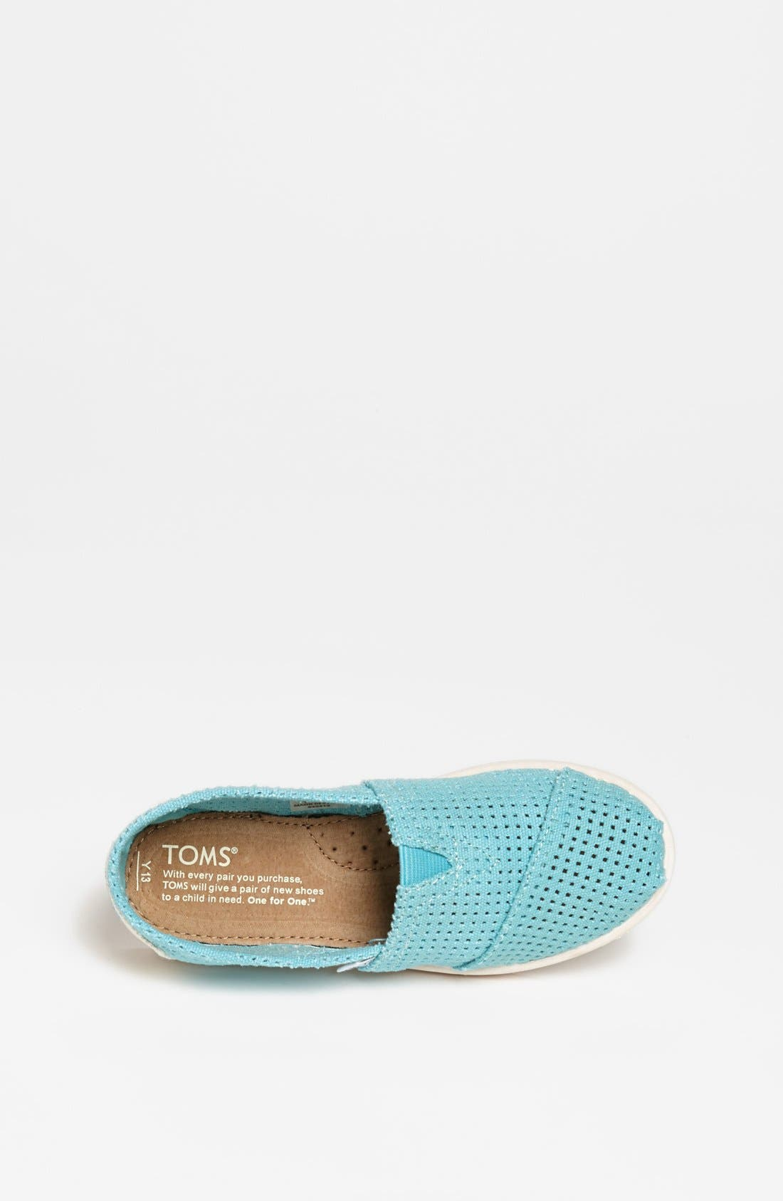 Alternate Image 3  - TOMS 'Classic - Youth' Perforated Slip-On (Toddler, Little Kid & Big Kid)