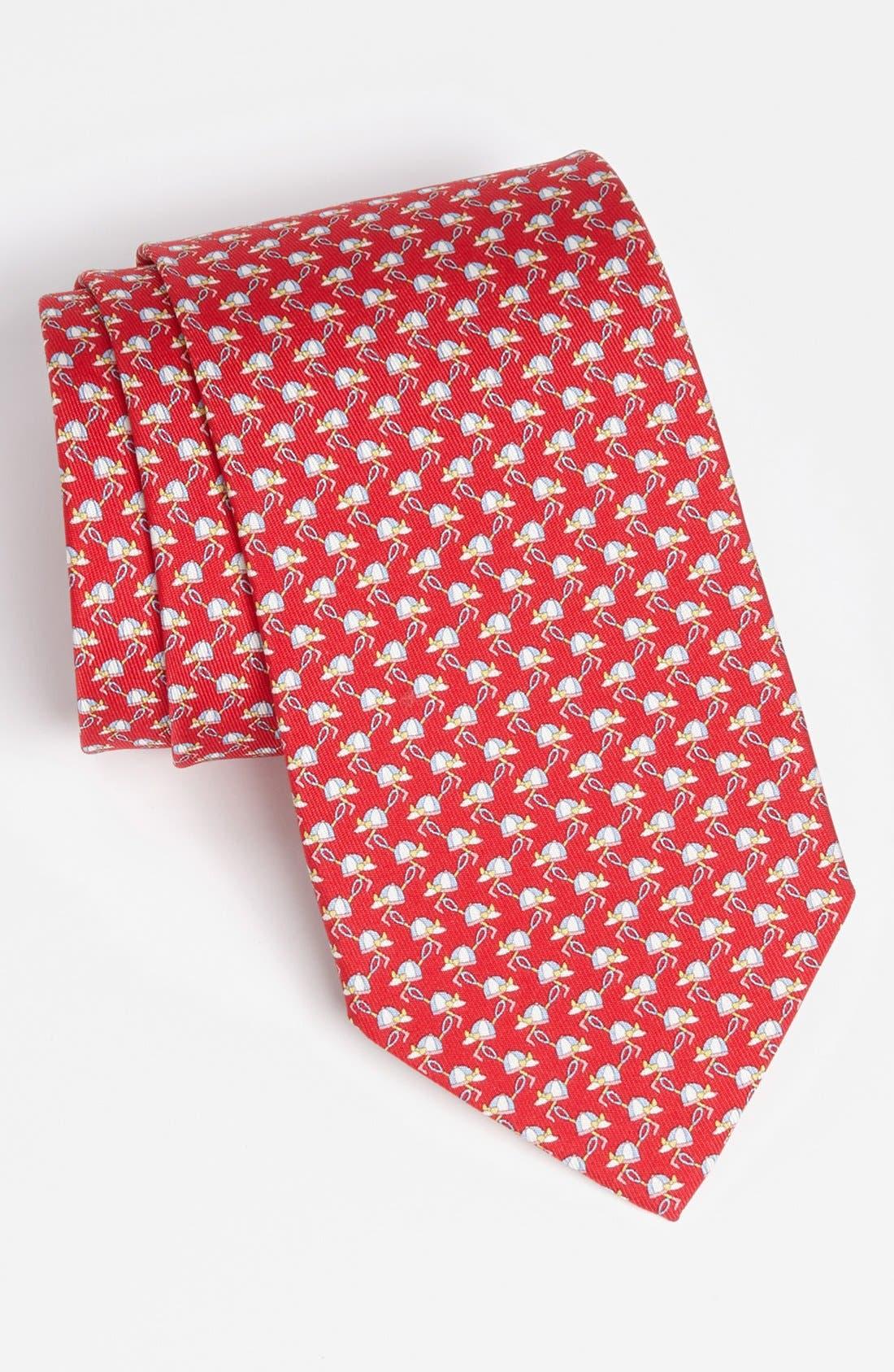 Alternate Image 1 Selected - Salvatore Ferragamo 'Polo Player' Silk Woven Tie