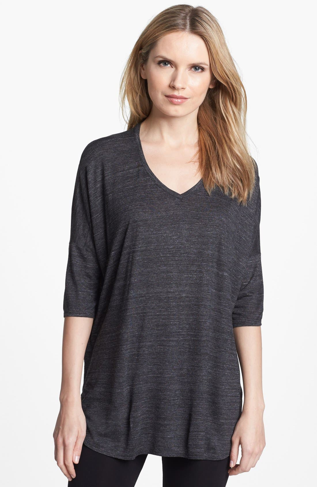 Alternate Image 1 Selected - Eileen Fisher V-Neck Slub Jersey Tunic