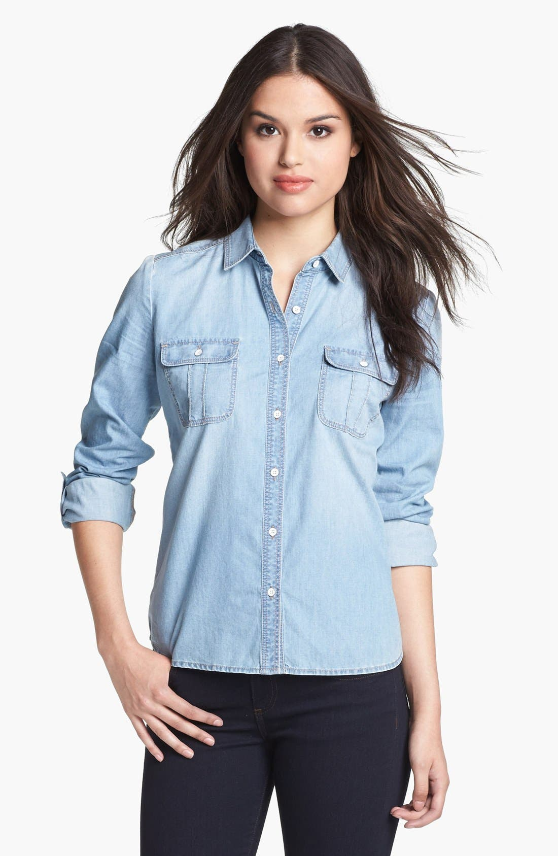 Alternate Image 2  - Halogen® Chambray Shirt
