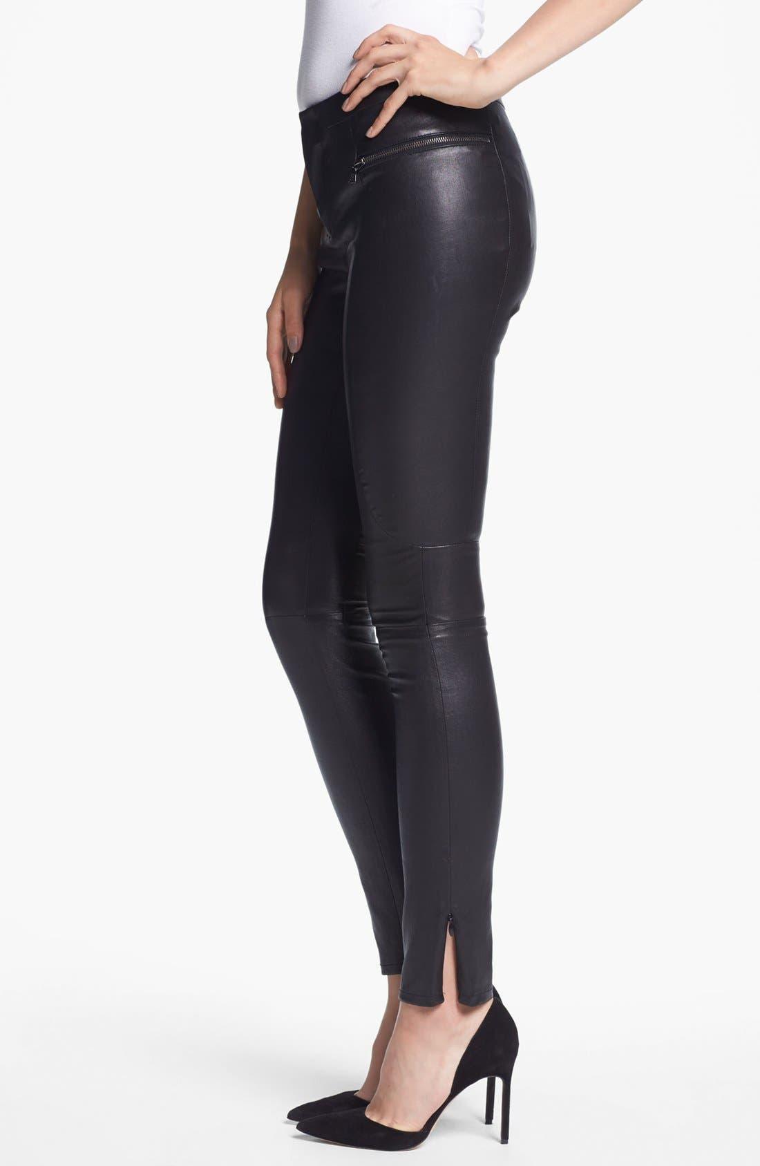 Alternate Image 3  - J Brand Ready-to-Wear 'Minette' Stretch Leather Pants
