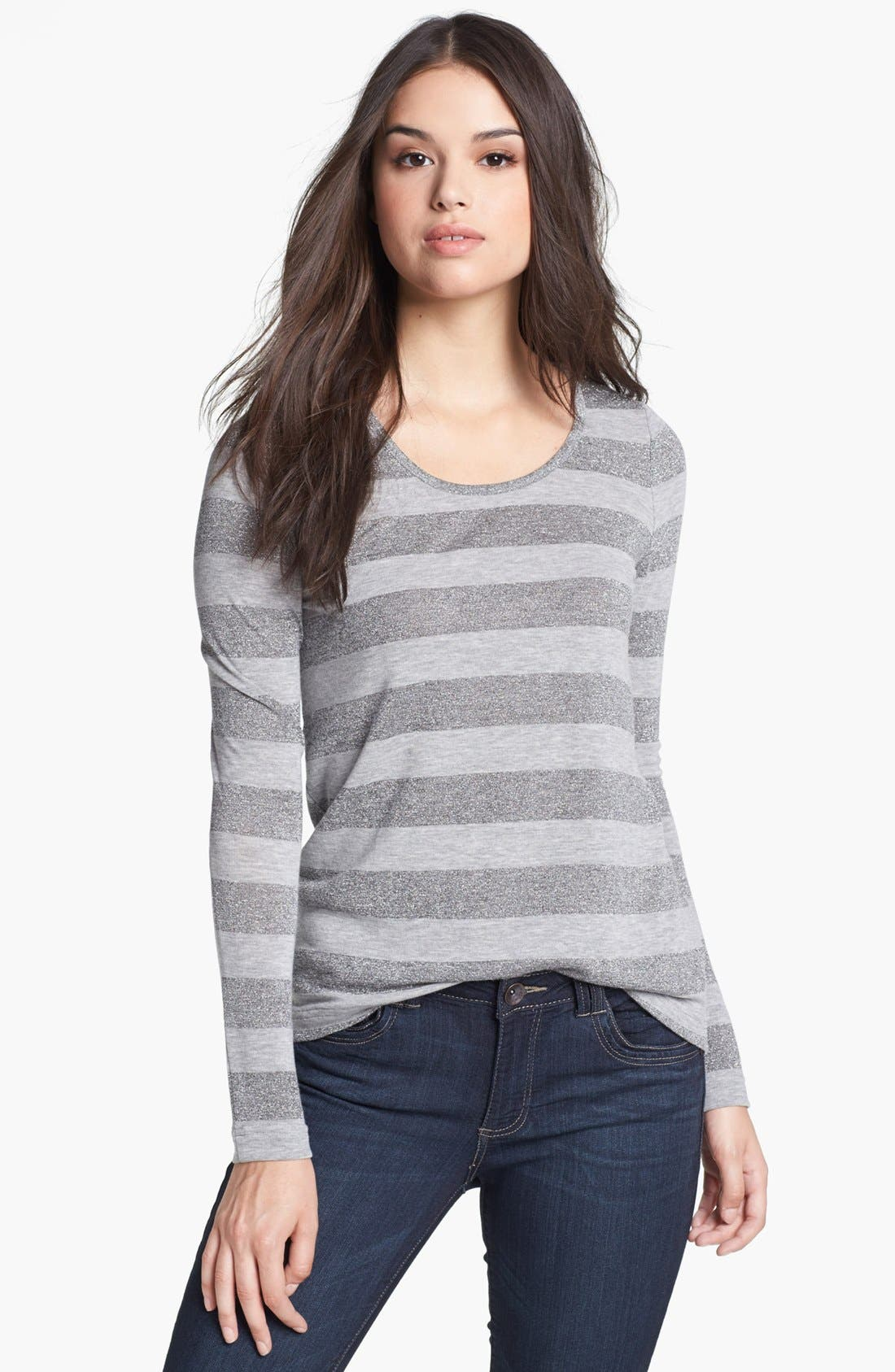 Alternate Image 1 Selected - Two by Vince Camuto Metallic Stripe Tee