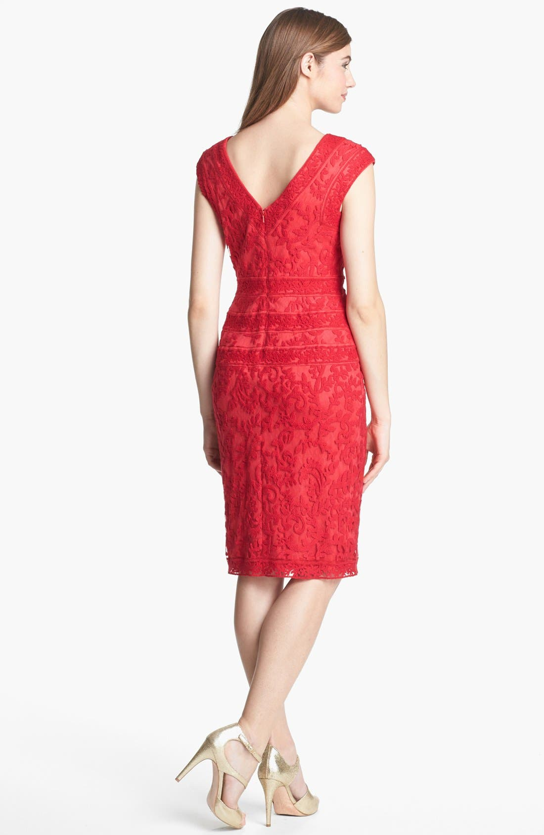 Alternate Image 2  - Tadashi Shoji Embroidered Dress
