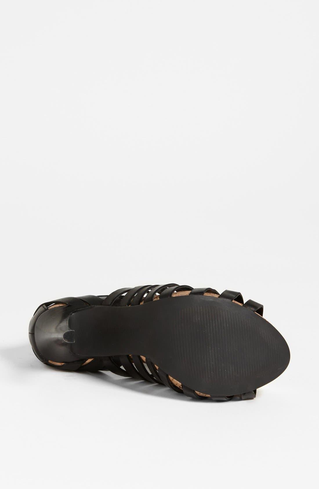 'Gerrie' Sandal,                             Alternate thumbnail 4, color,                             Black