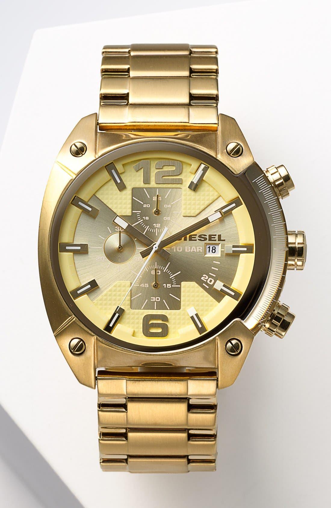 Alternate Image 4  - DIESEL® 'Overflow' Chronograph Bracelet Watch, 46mm x 49mm