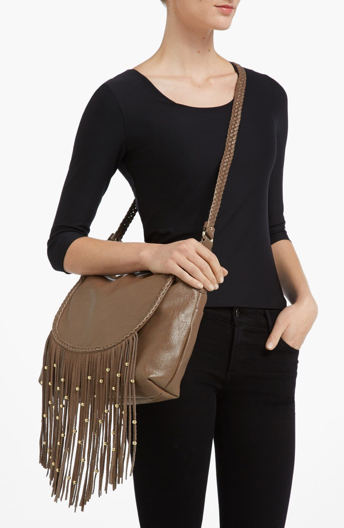 Alternate Image 2  - Izzy & Ali 'Farah' Fringe Shoulder Bag