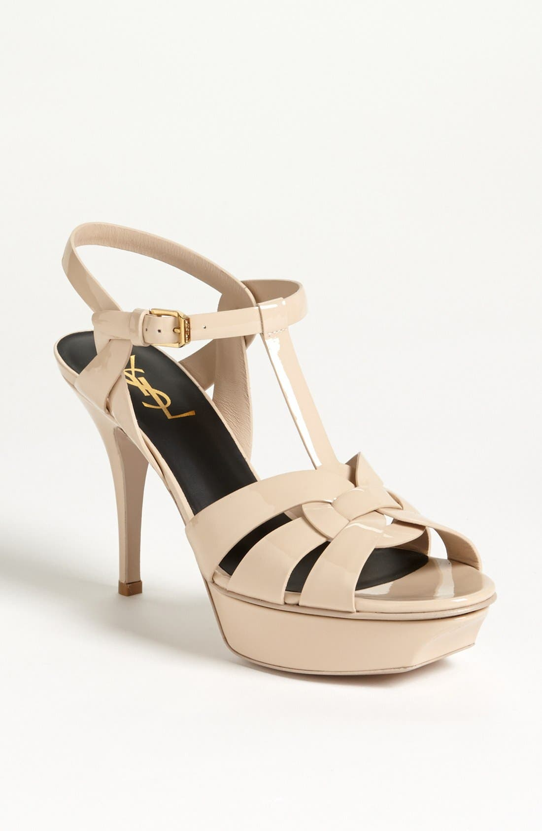 Saint Laurent 'Tribute' T-Strap Sandal (Women)