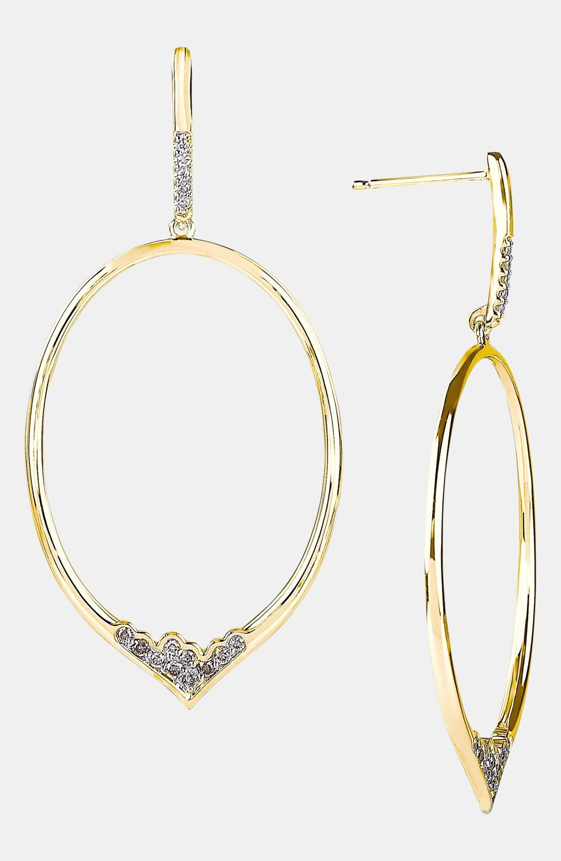 Alternate Image 1 Selected - Whitney Stern Large Oval Drop Earrings