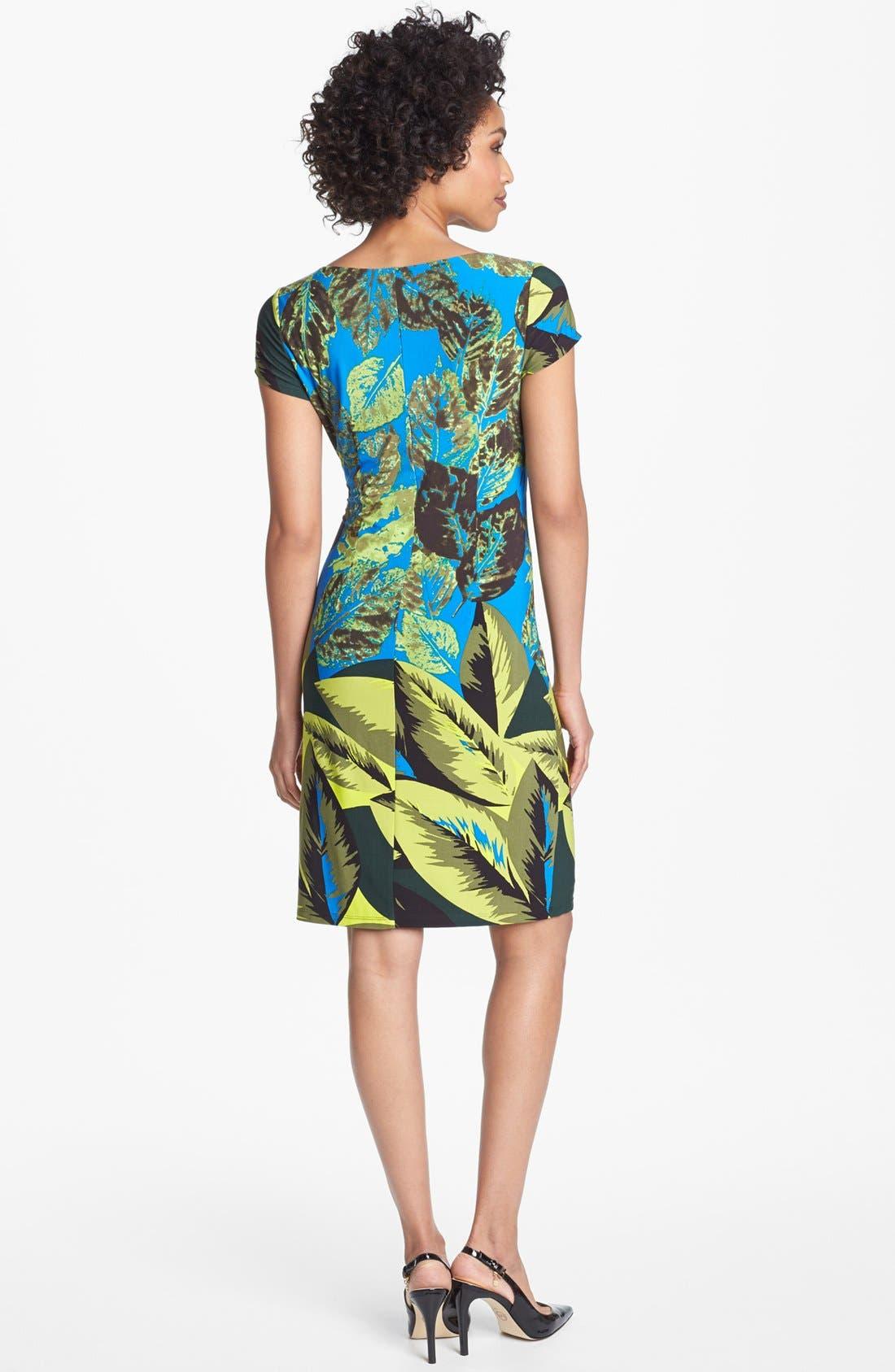 Alternate Image 2  - Ellen Tracy Print Jersey Sheath Dress
