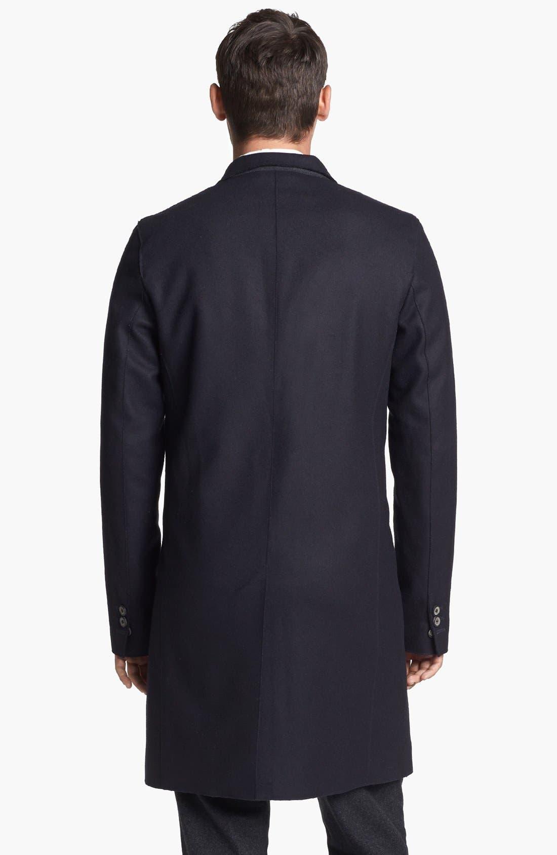 Alternate Image 2  - Vince Raw-Edge Wool Blend Coat