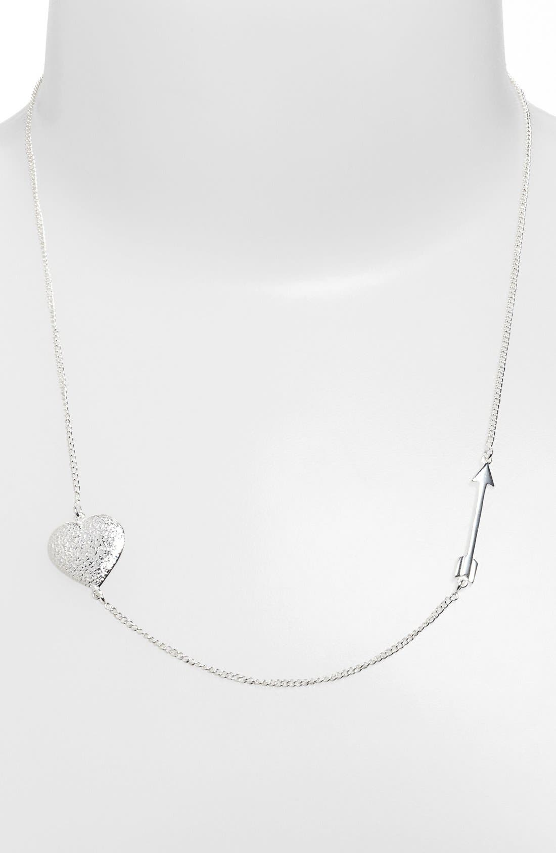 Alternate Image 1 Selected - Melinda Maria 'Heart & Arrow' Station Necklace (Online Only)