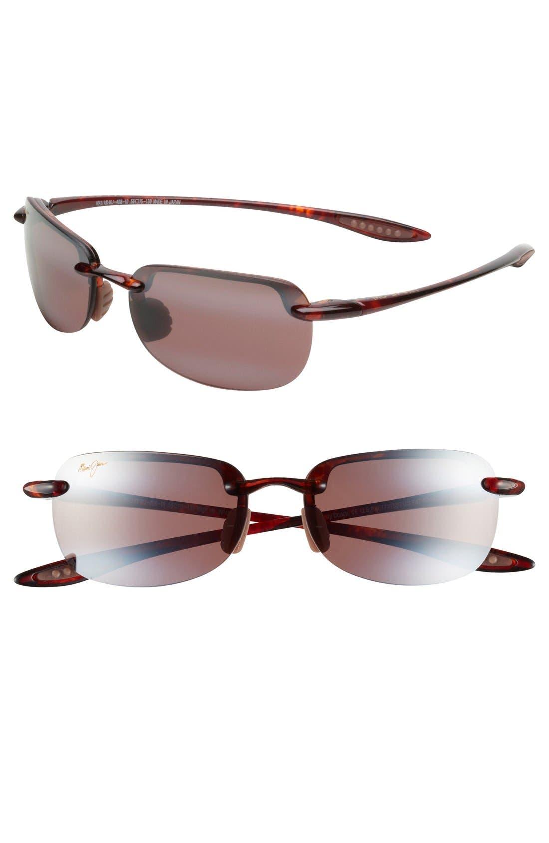 Main Image - Maui Jim Sandy Beach 56mm PolarizedPlus2® Rimless Sunglasses