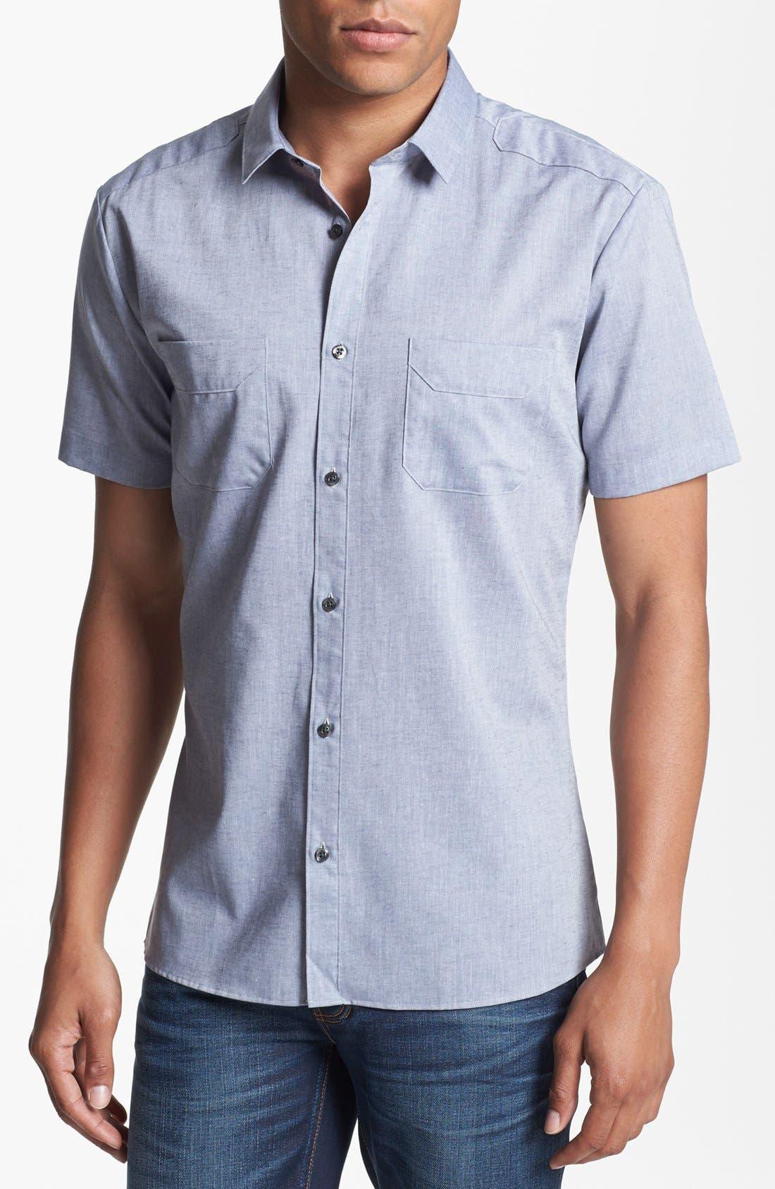 Alternate Image 1 Selected - HUGO 'Ediso' Short Sleeve Sport Shirt