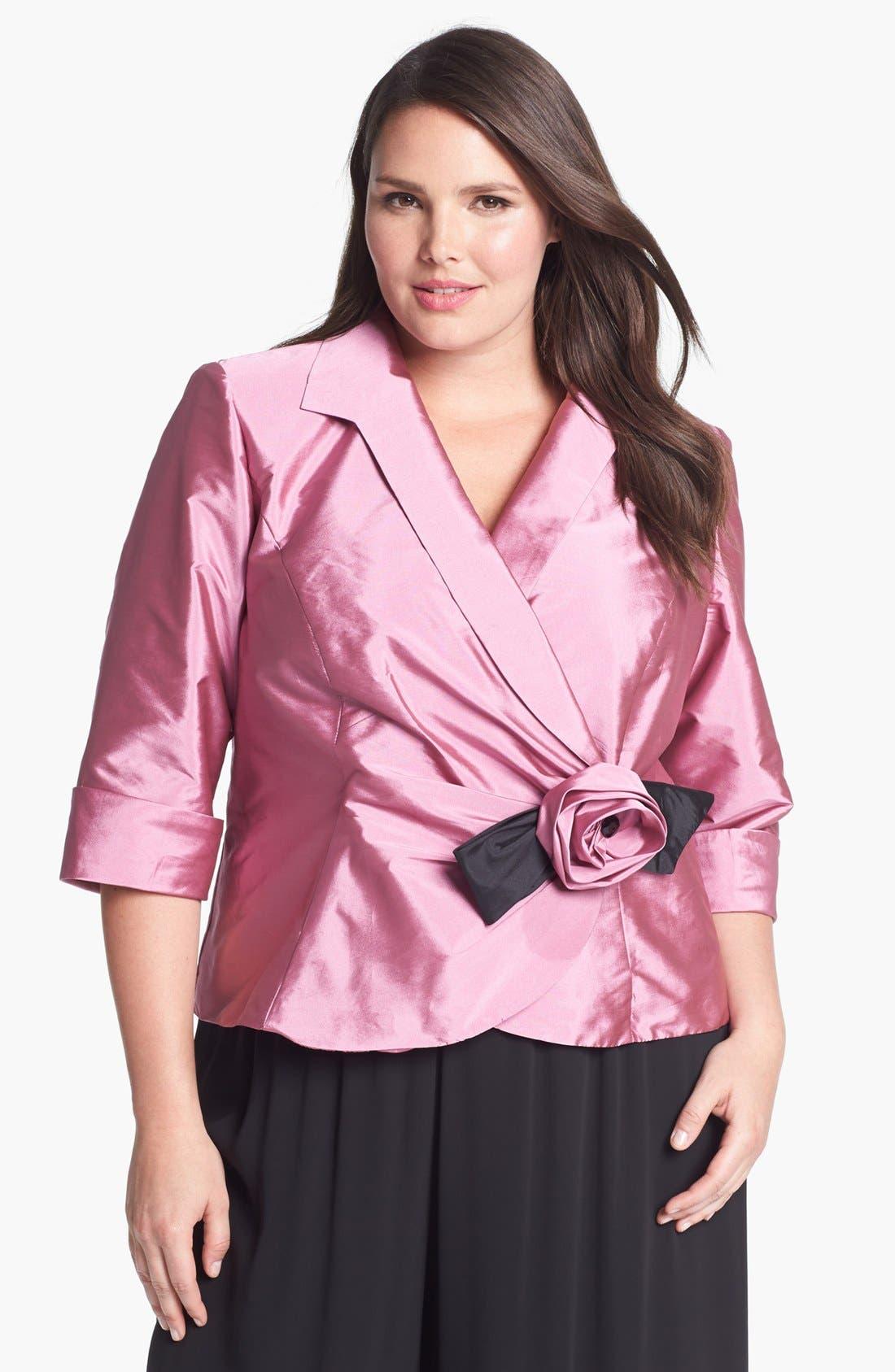 Rosette Wrap Blouse,                         Main,                         color, Pink