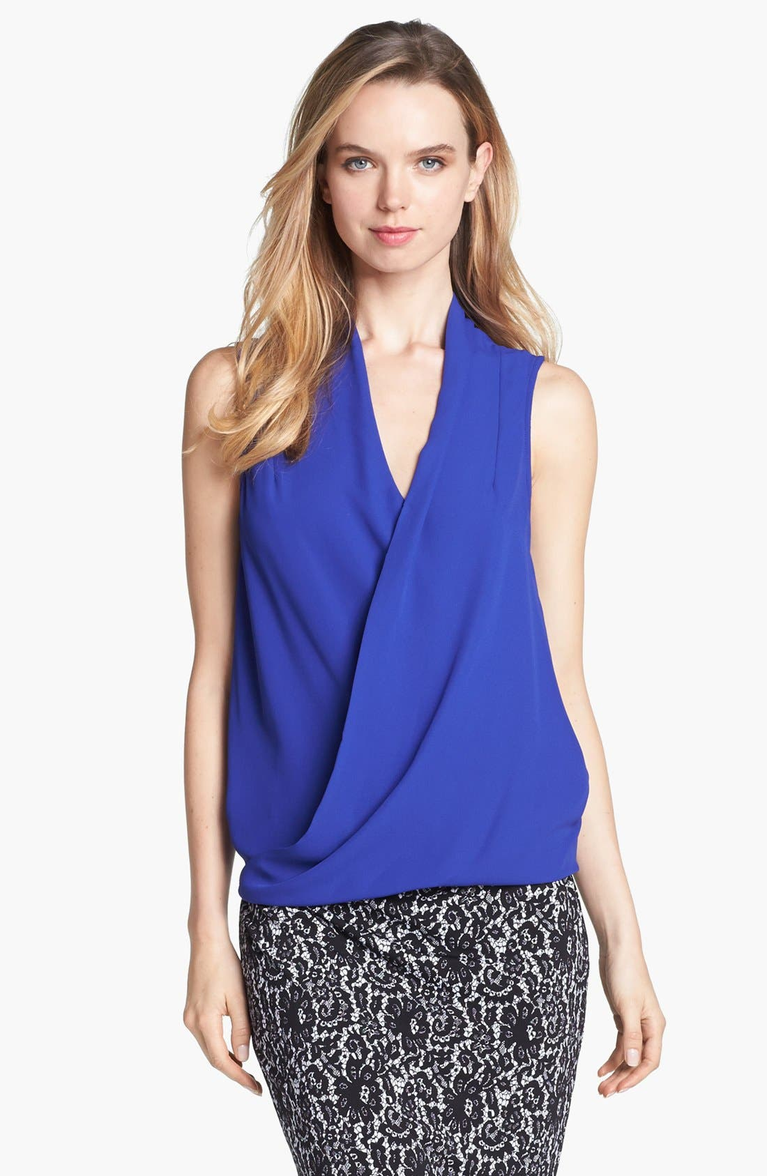 Alternate Image 2  - Vince Camuto Sleeveless Faux Wrap Top