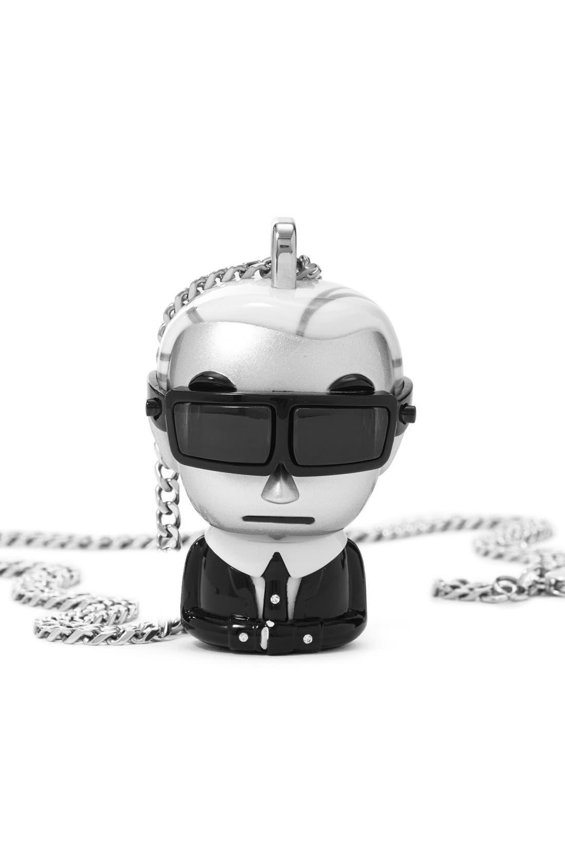 'tokidoki' Digital Necklace Watch, 37mm x 51mm,                             Alternate thumbnail 2, color,                             Silver/ Black/ White