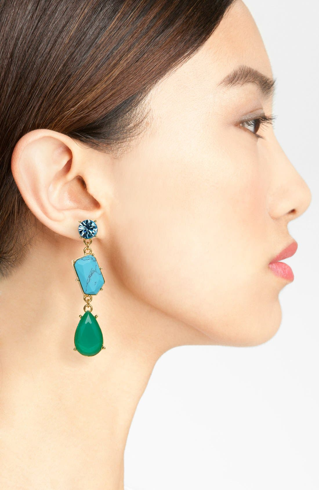 Alternate Image 2  - kate spade new york 'crystal fiesta' linear stone earrings