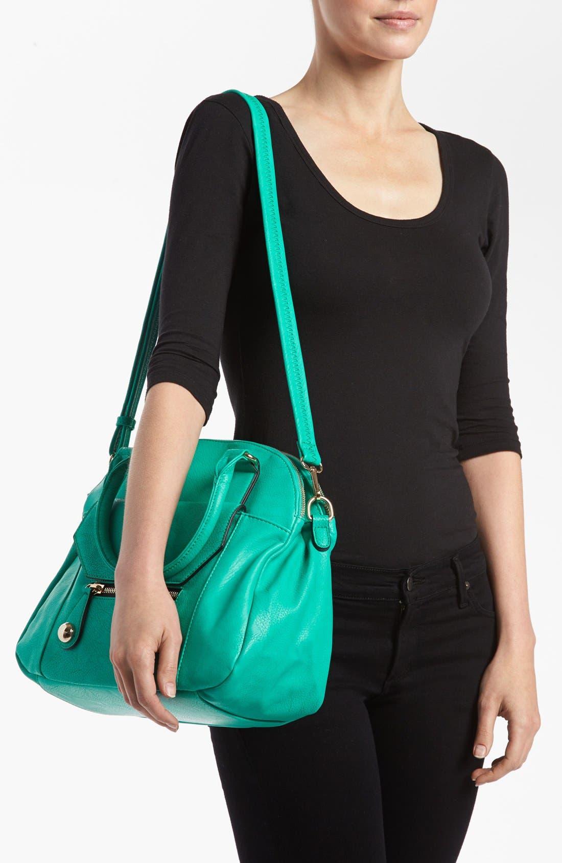 Alternate Image 2  - Emperia Faux Leather Tote Bag (Juniors)