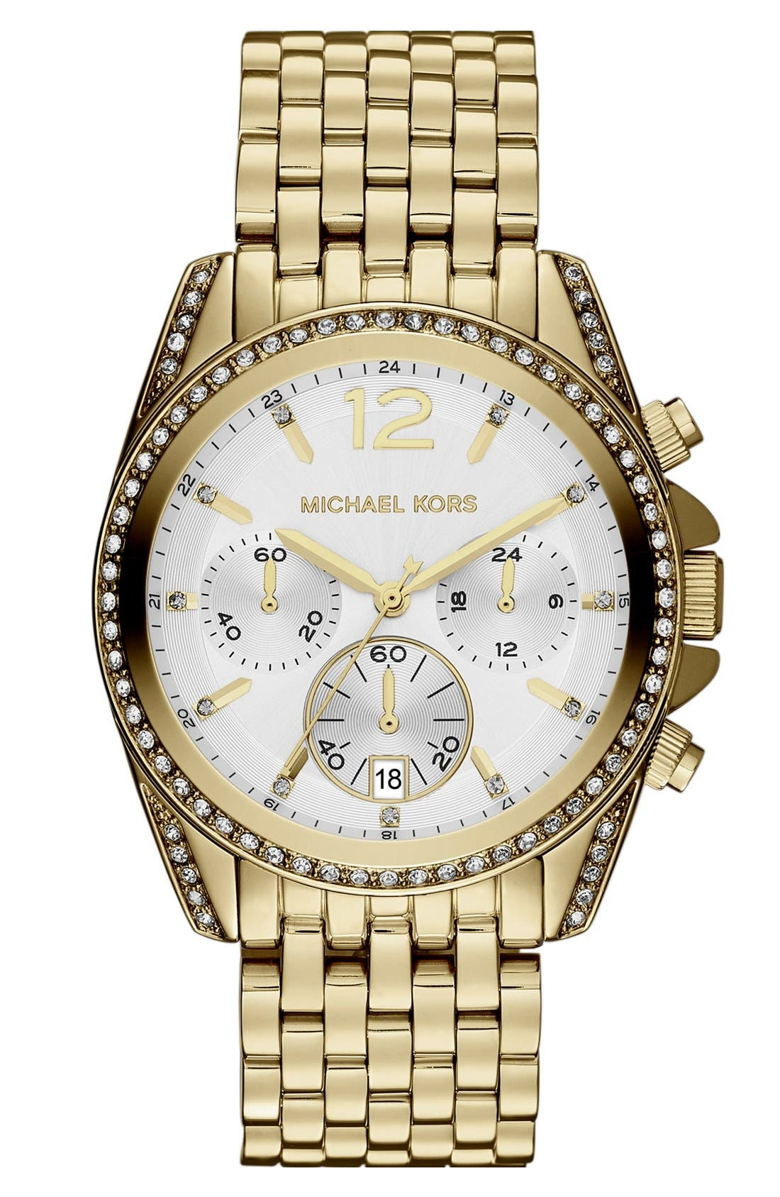 Main Image - Michael Kors 'Pressley' Chronograph Bracelet Watch, 39mm