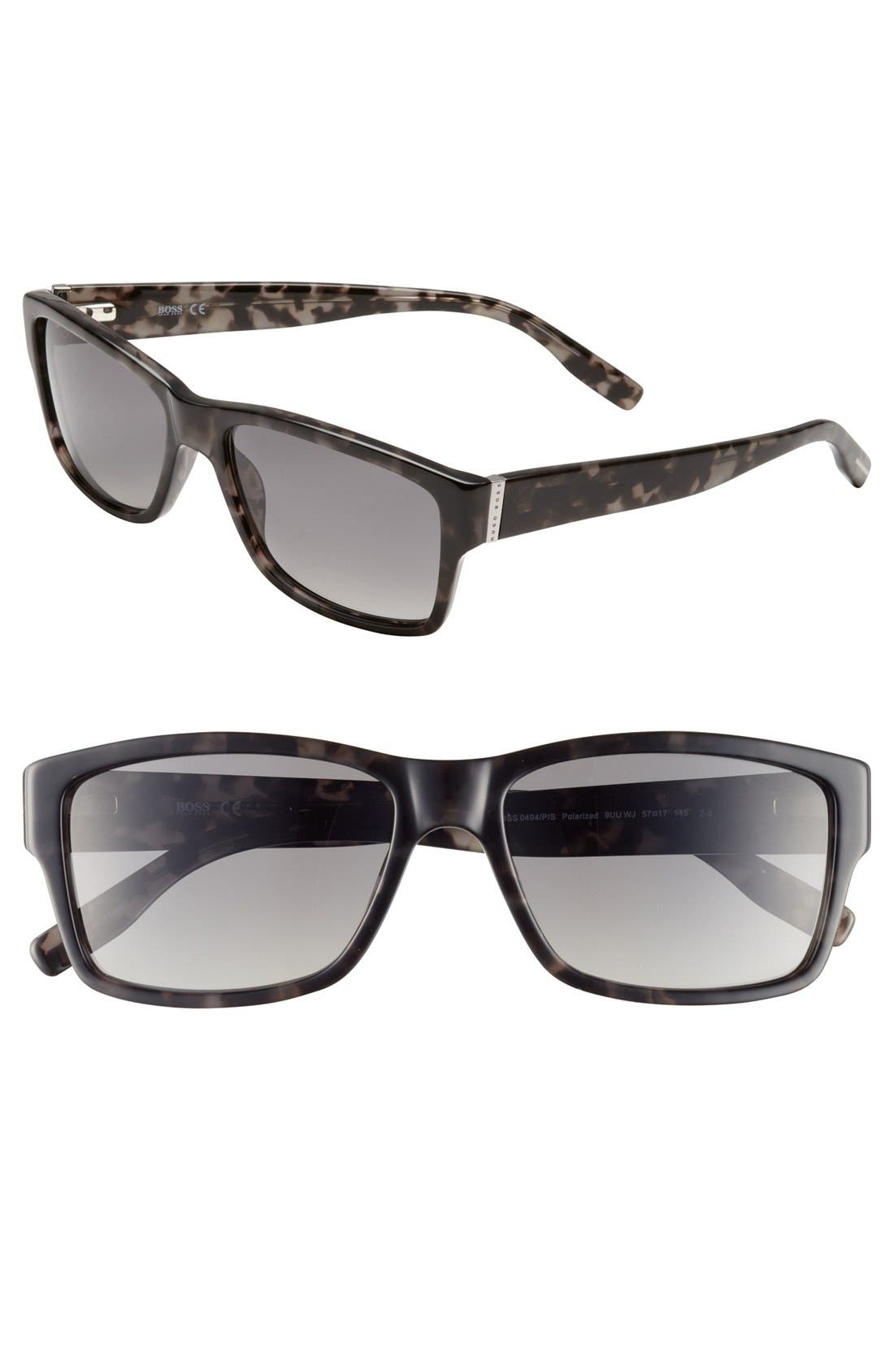Alternate Image 1 Selected - BOSS HUGO BOSS 57mm Camo Sunglasses