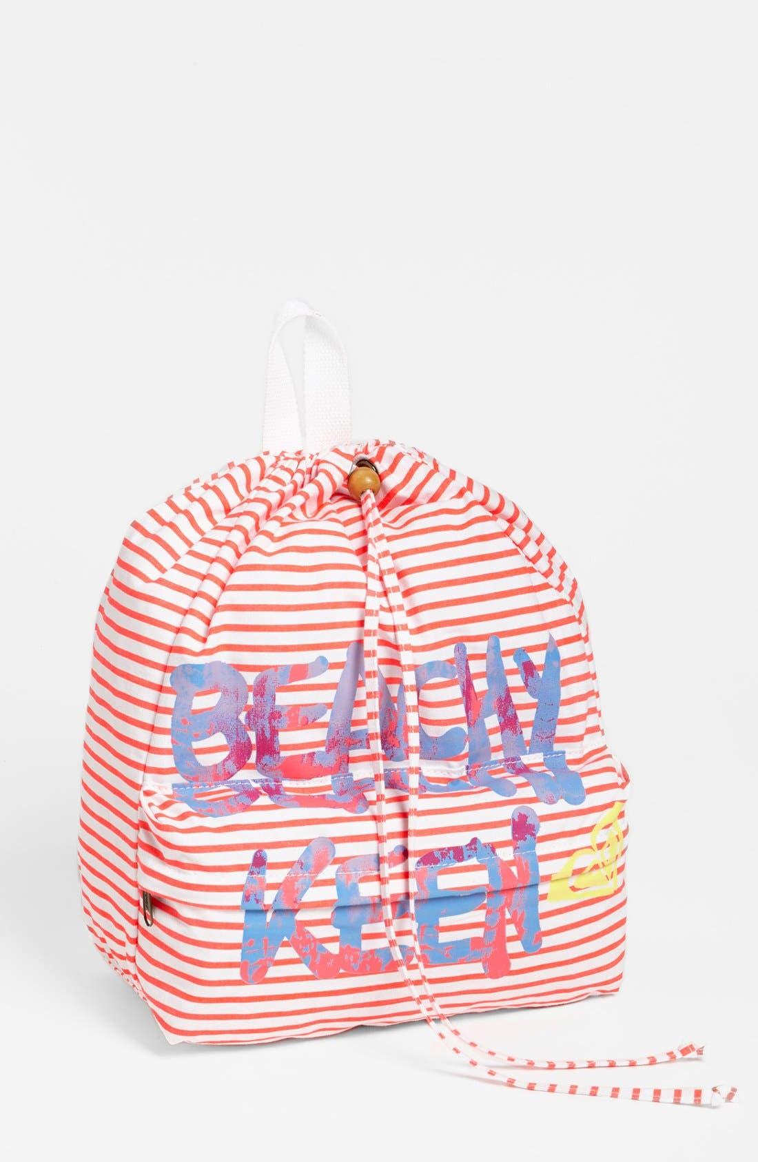Alternate Image 1 Selected - Roxy 'Pinch It Up' Beach Bag (Girls)