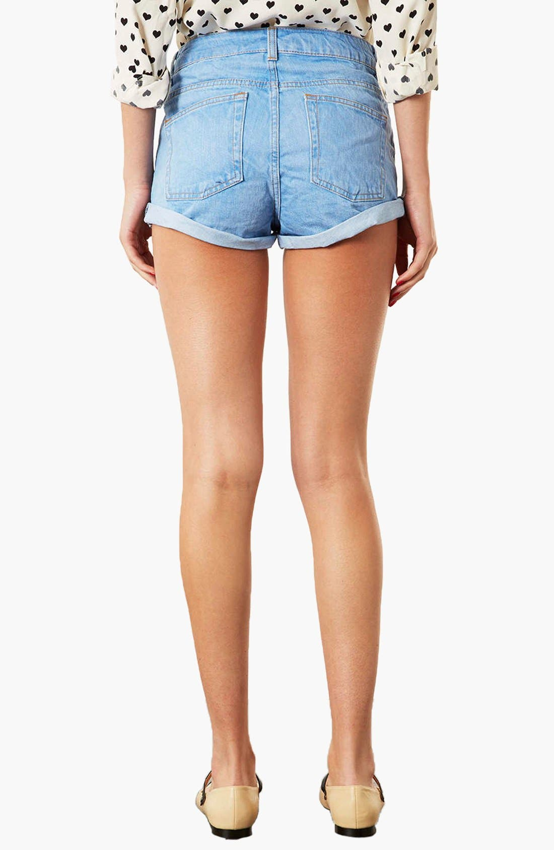 Alternate Image 2  - Topshop Moto 'Polly' Denim Shorts