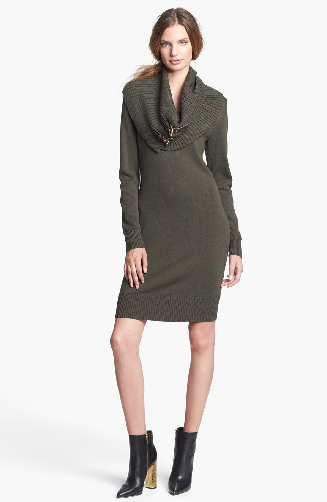 Main Image - MICHAEL Michael Kors Sweater Dress with Detachable Cowl