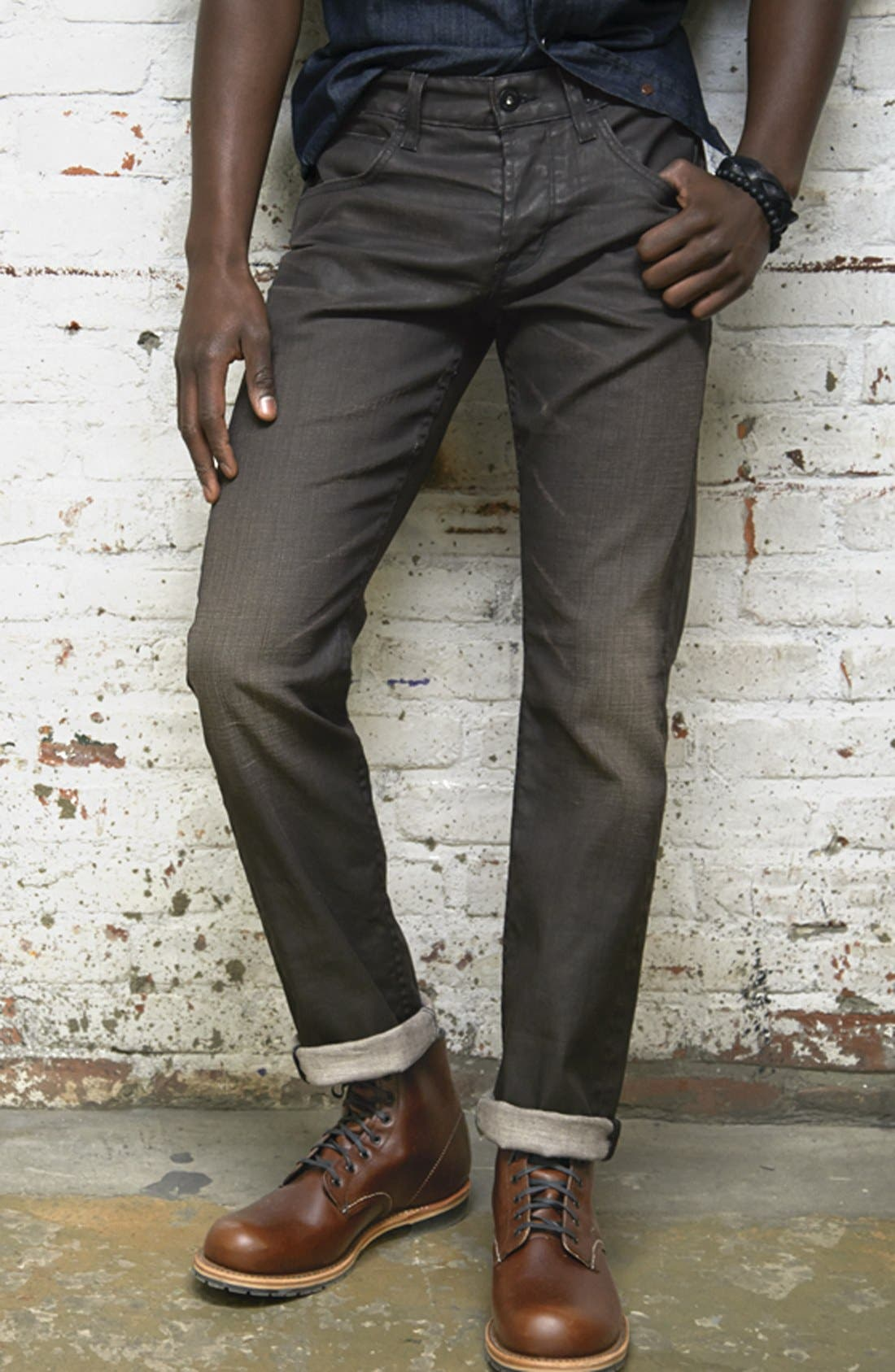 Alternate Image 5  - Hudson Jeans 'Byron' Coated Straight Leg Jeans (Tomahawk)