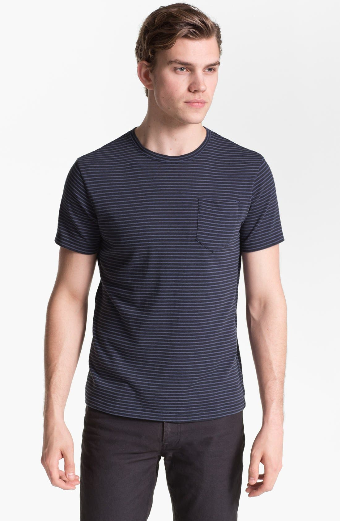 Main Image - Steven Alan Stripe Print Pocket T-Shirt