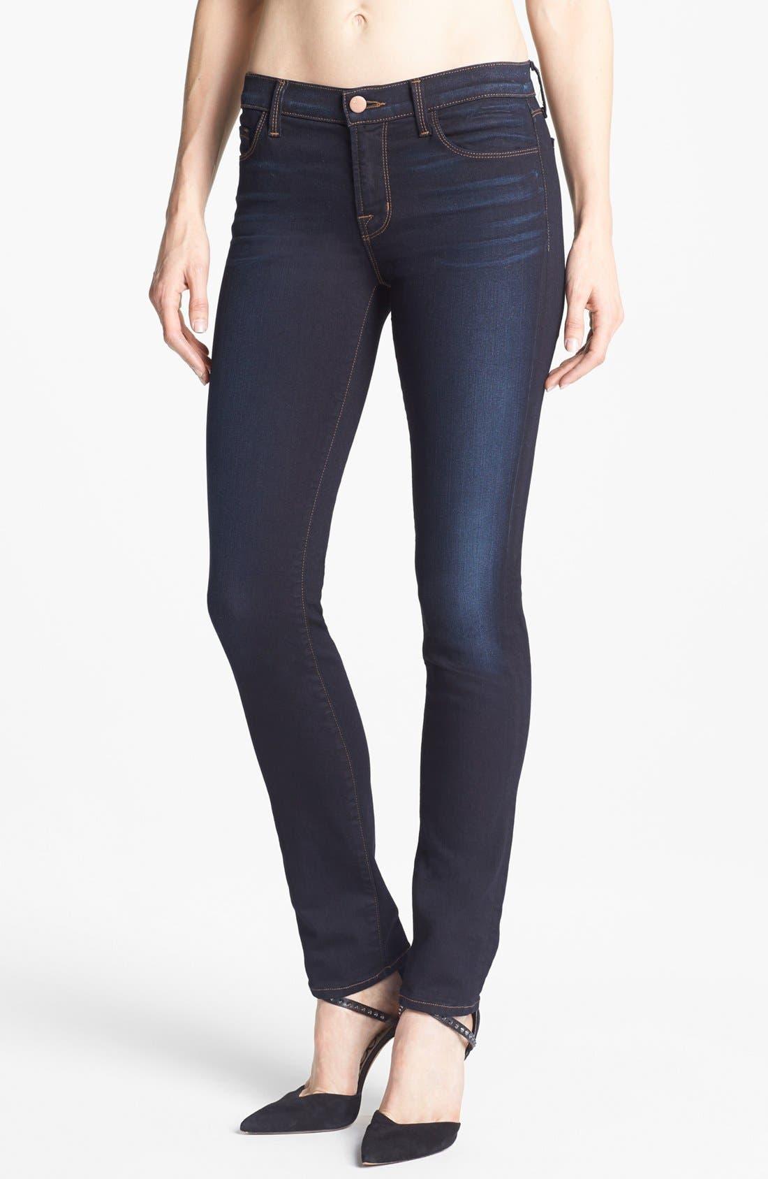 Alternate Image 1 Selected - J Brand '8112 Mid Rise Rail' Skinny Jeans (Atlantis)