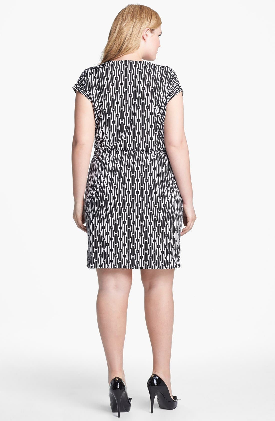 Alternate Image 2  - MICHAEL Michael Kors Print Faux Wrap Dress (Plus Size)