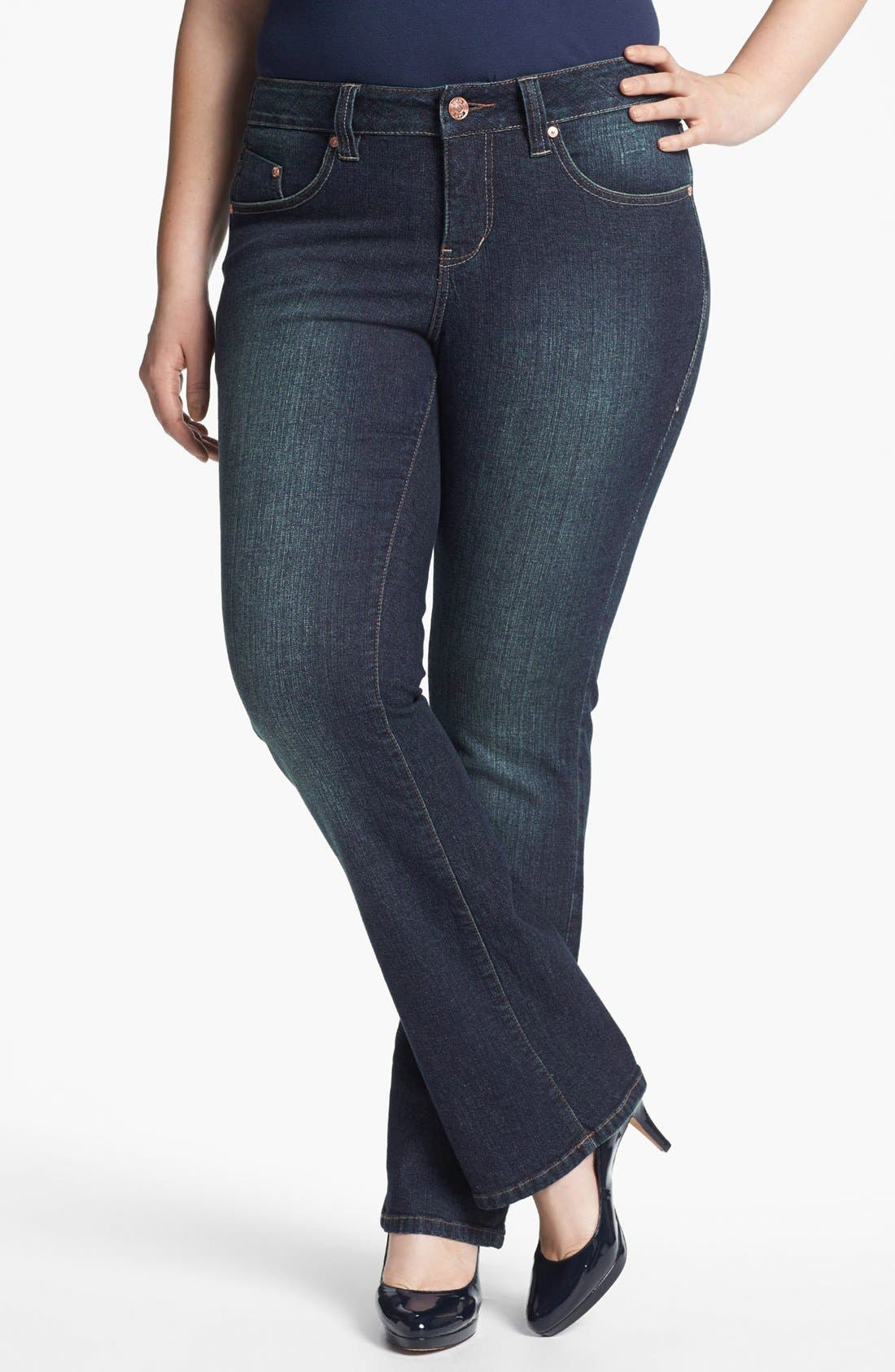 Alternate Image 1 Selected - Jag Jeans 'Foster' Bootcut Jeans (Plus Size)
