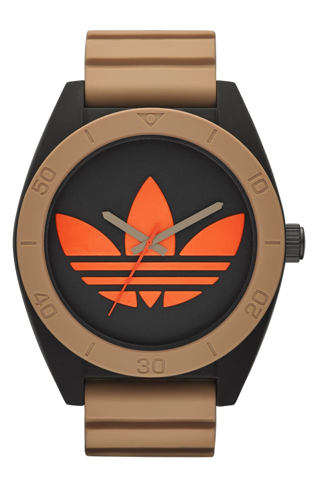 Alternate Image 1 Selected - adidas Originals 'Santiago XL - Special Edition' Silicone Strap Watch, 50mm