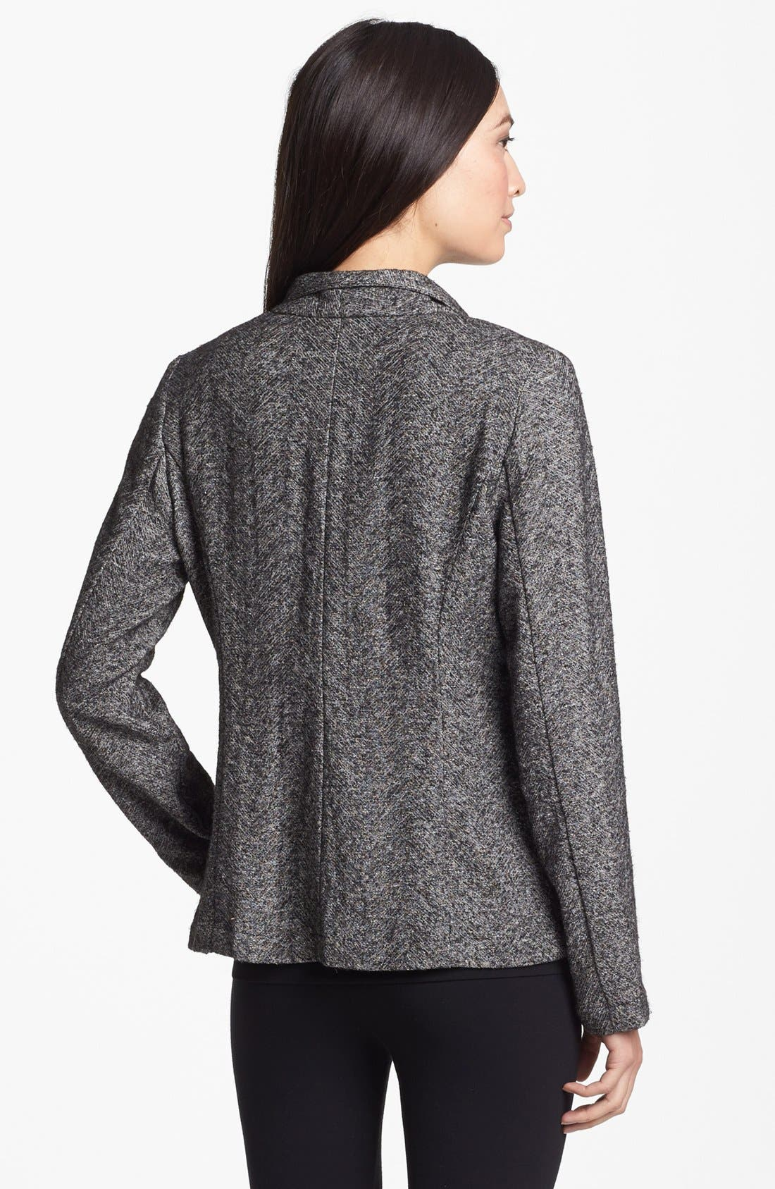 Alternate Image 2  - Eileen Fisher Drape Front Herringbone Tweed Jacket