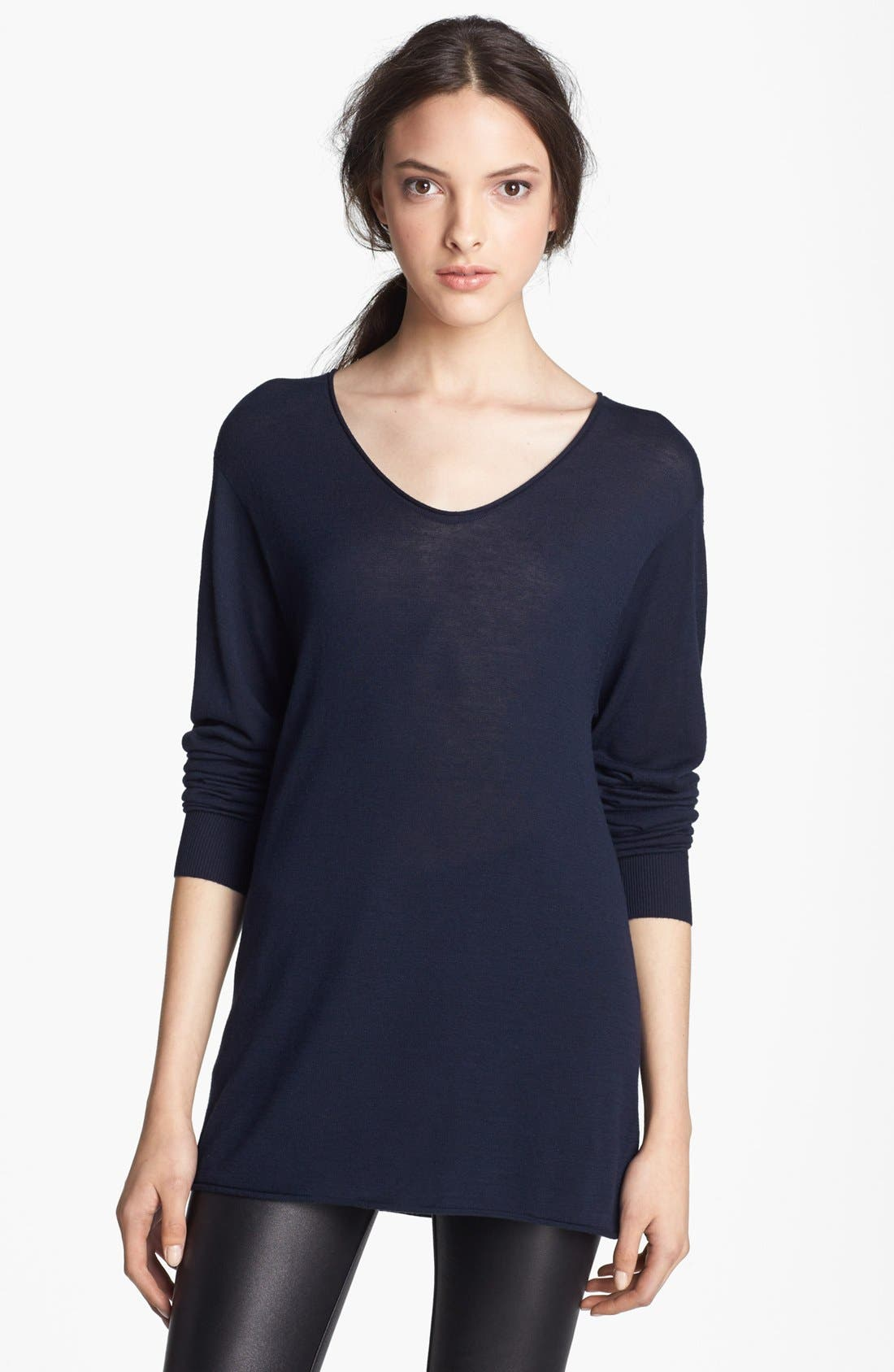 Alternate Image 1 Selected - T by Alexander Wang Fitted Jersey Tee