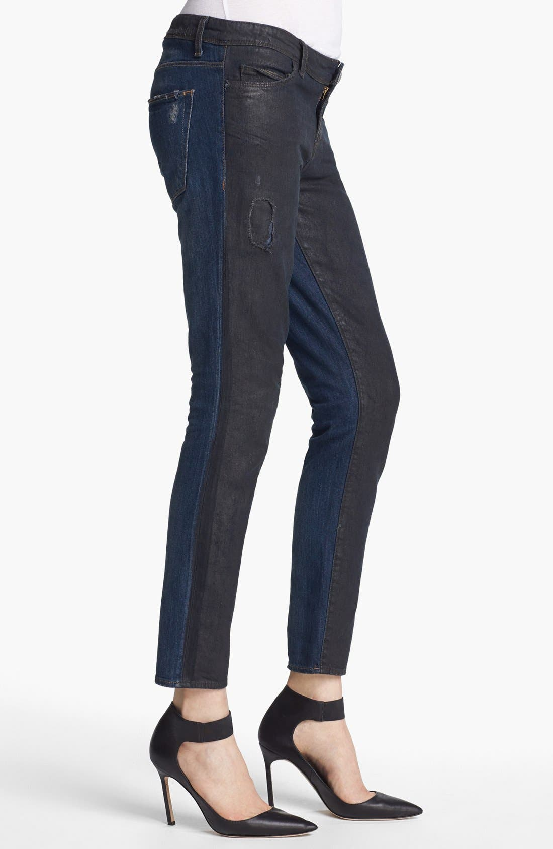 Alternate Image 4  - EACH X OTHER Waxed Two Tone Boyfriend Jeans