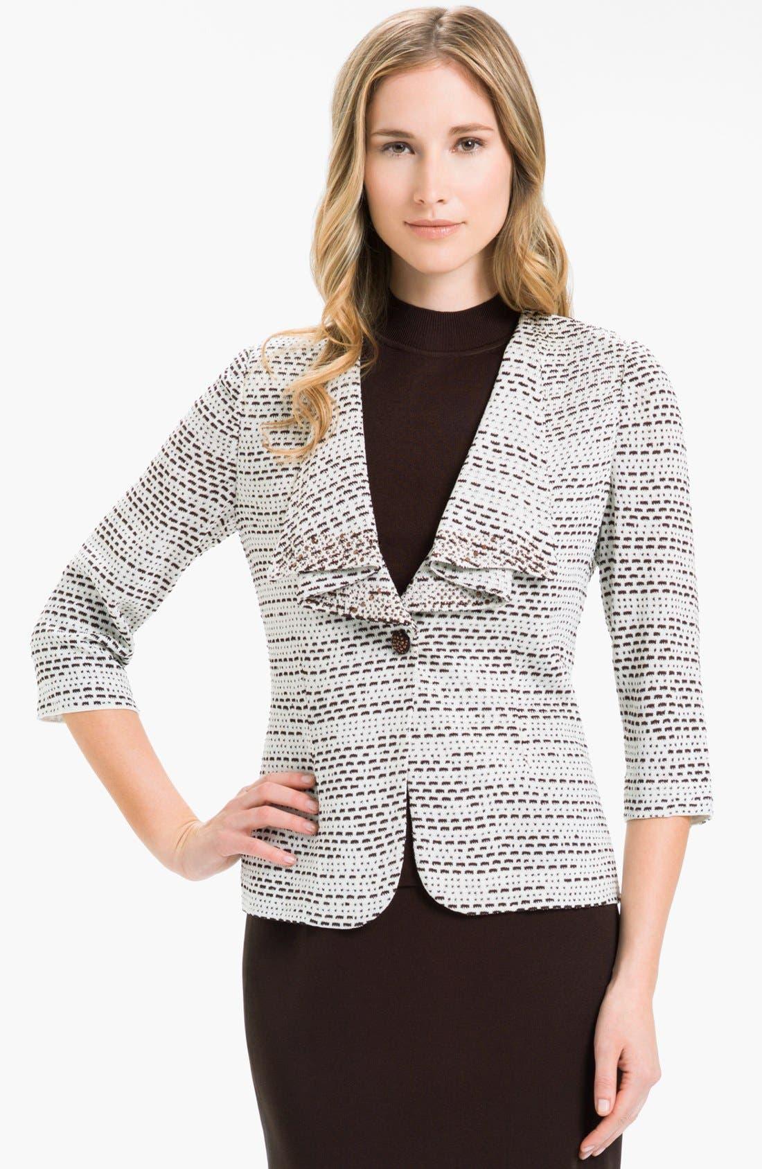 Main Image - Ming Wang Cascade Lapel Knit Jacket