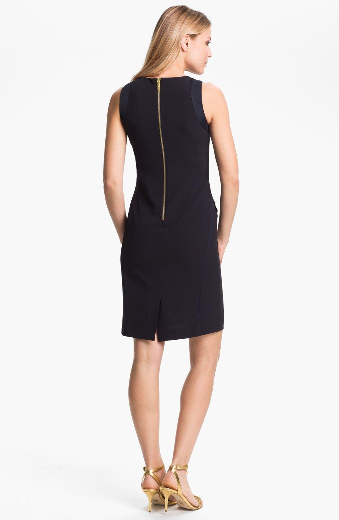 Alternate Image 2  - MICHAEL Michael Kors Embellished Neck Sleeveless Dress (Petite)